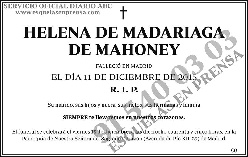 Helena de Madariaga de Mahoney